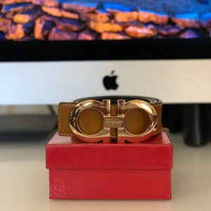 Other - Ferragamo belt with gold buckle